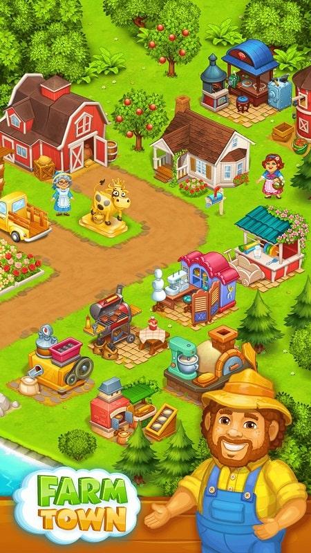 Farm Town Happy Farming Day mod free